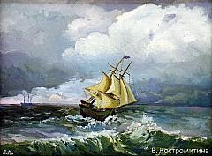 Картина Кораблик