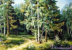 Картина Лесная тропинка