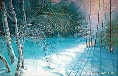 Картина Уральская зима