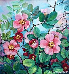 Картина Розовые цветы