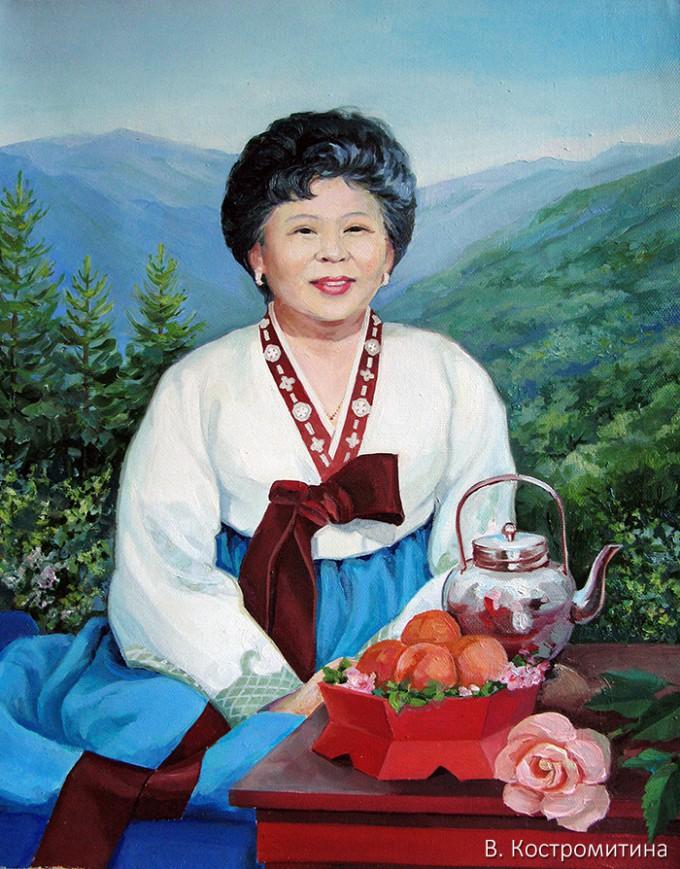 Портрет Ли Мён Джа (Корея)