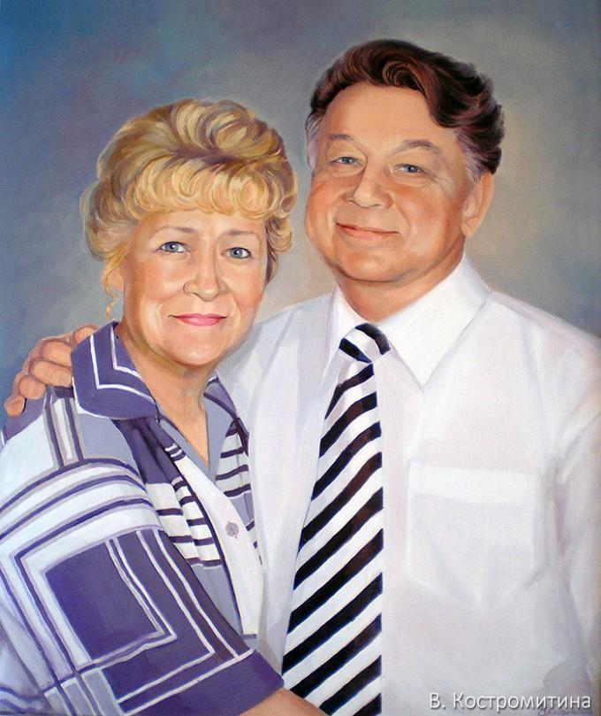 Портрет Г.С. и Ю.Г. Пинаевы