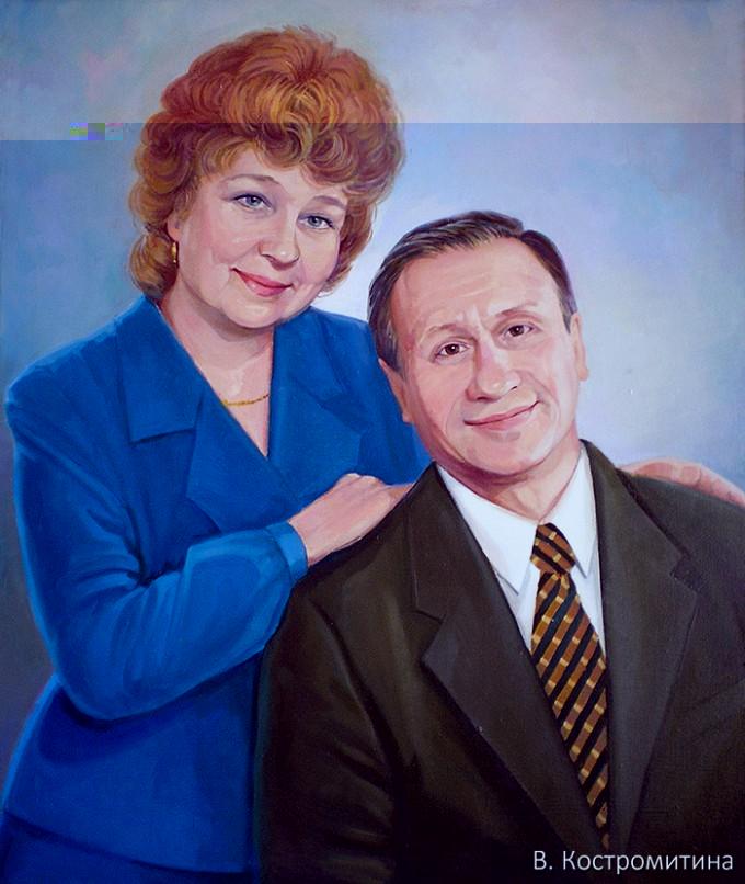 Портрет Кожевниковых О.М и Е.П.