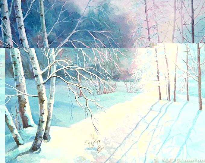Картина Зимнее солнце