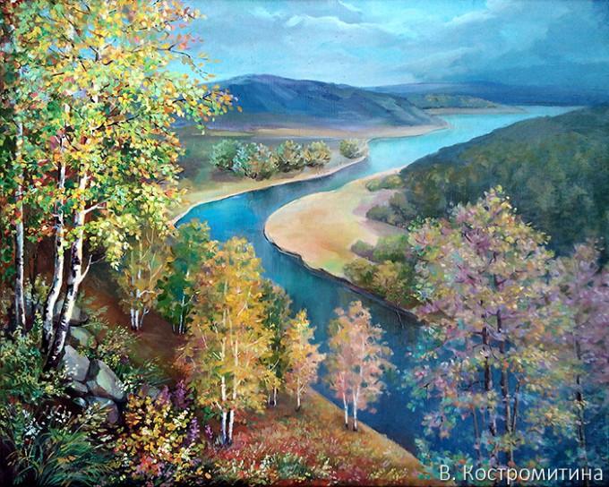 Картина Вид с горы